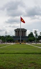 Imagen del mausoleo de Ho Chi Minh en Hanoi, Vietnam