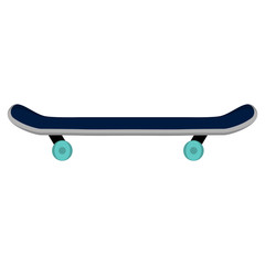 Isolated skateboard image on a white background - Vector