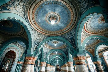 Photo sur Plexiglas Con. Antique Mysore palace in India