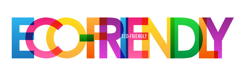 ECO-FRIENDLY colorful rainbow typography banner