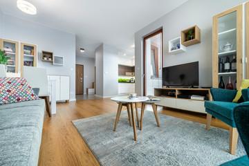 Modern interior design living room Fototapete