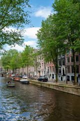 Foto op Plexiglas Amsterdam Canal Houses in Amsterdam city