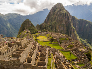 Garden Poster South America Country View of Machu Picchu
