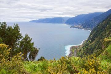 View from Eira da Achada viewpoint in Madeira, Portugal