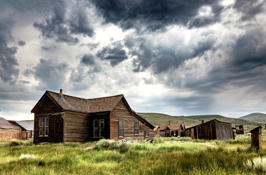 Old House in Bodie Ghost Town, California, United States