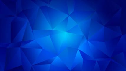 Blue Aquamarine Trendy Low Poly Backdrop Design
