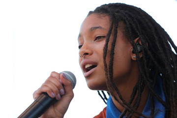 Willow Smith performs at Global Climate Strike in Manhattan in New York