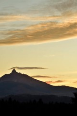 Mt. Washington sunset from Black Butte Ranch near Sisters, Oregon