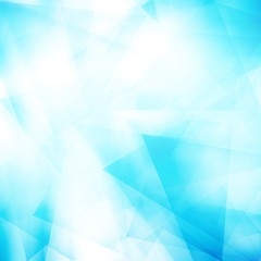 Abstract polygonal blue triangle background