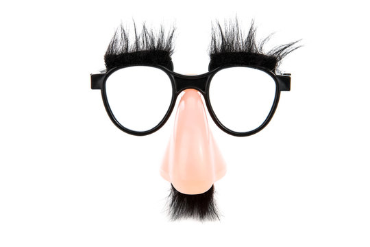Fake nose and glasses disguise with mustache