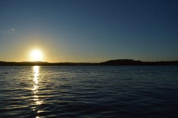 Pôr-do-Sol no rio Cachoeira, Ilhéus - BA