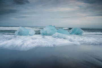 Fototapete - Diamond beach in Iceland