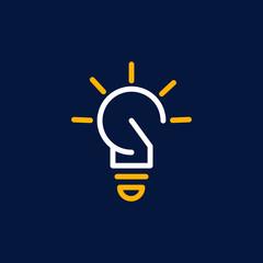 Bulb Idea Outline Creative Modern Business Logo