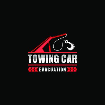 Towing car evacuation logo design
