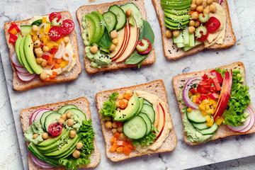 In de dag Snack Vegetable sandwiches