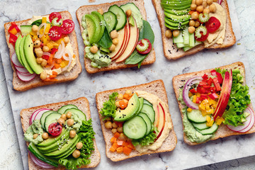 Foto op Plexiglas Snack Vegetable sandwiches