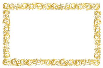 Frame gold border ornamental design
