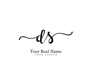 DS Initial beauty monogram logo vector