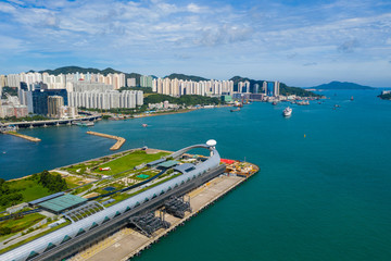 Wall Mural -  Cruise terminal building in Hong Kong