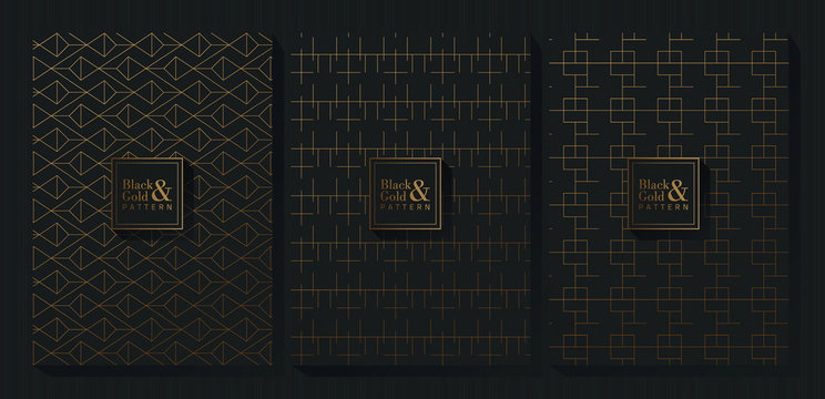 Black and Gold Pattern Background