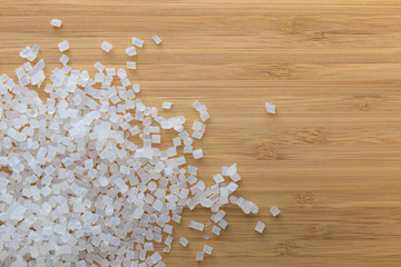 Obraz Biodegradable plastic pellets made from starch and renewable sources - fototapety do salonu