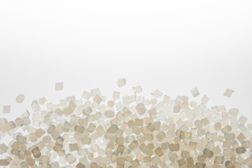 Fototapeta Biodegradable plastic pellets made from starch and renewable sources obraz