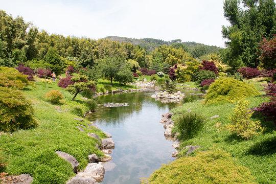 Dans le parc de la Bambouseraie d'Anduze