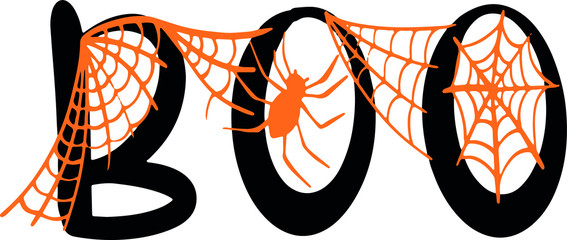 Boo with spider decoration for Halloween T-shirt