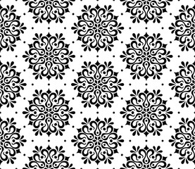 Abstract pattern seamless black and whit doodle Sketch