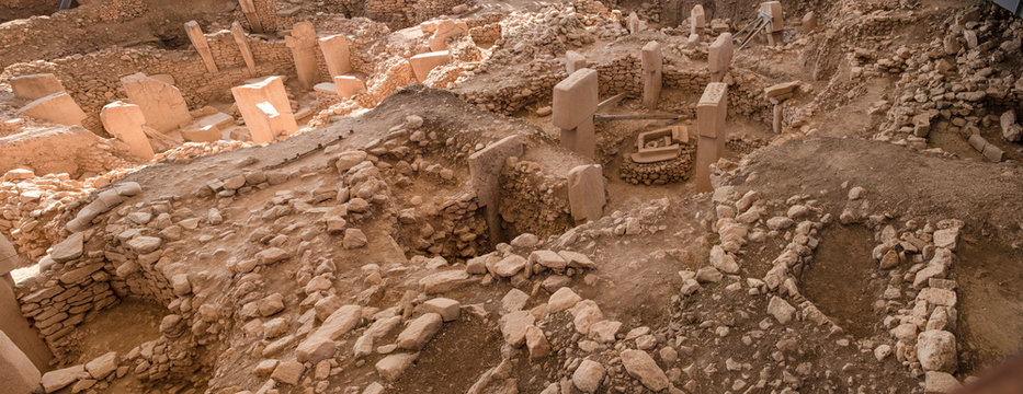 Ancient Site of Gobekli Tepe in SanliUrfa, Turkey (Göbeklitepe The Oldest Temple of the World). Gobekli Tepe is a UNESCO World Heritage site.