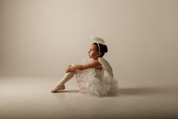 photo session of a little ballerina