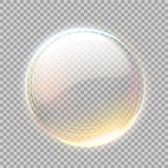 Vector 3d transparent sphere with golden blick