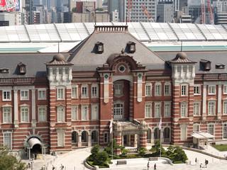 Fototapete - 東京駅 丸の内口