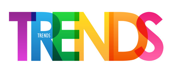 TRENDS colorful vector typography banner