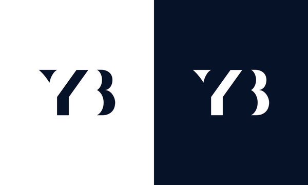 Abstract letter YB logo. This logo icon incorporate with abstract shape in the creative way.