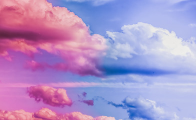 Obraz Dreamy surreal sky as abstract art, fantasy pastel colours background for modern design - fototapety do salonu