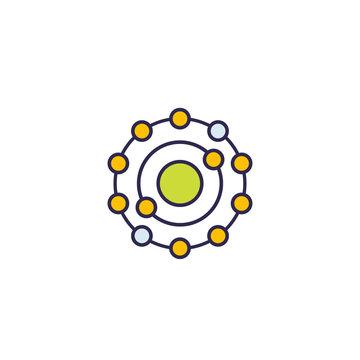 antioxidant icon, vector on white