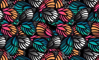pattern with butterfly wings