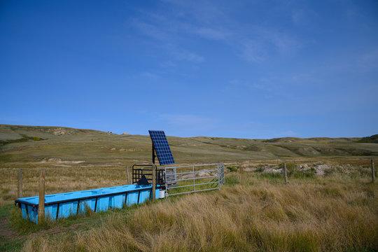 solar panel for watering livestock 2