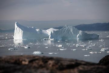 Fototapete - large glacier and iceberg in Iceland
