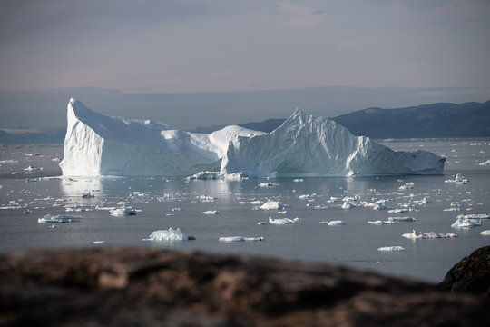 large glacier and iceberg in Iceland