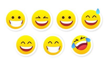 set of social media emoji. emoticon sticker vector illustration. set of emoticons