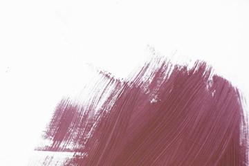 Abstract high-resolution background of magenta color on the white wall with paintbrush strokes texture
