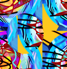 Abstract art. Colorful picture. Digital
