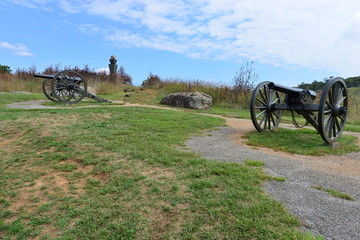 Napoleon Cannon at Gettysburg the site of the battle that took place from July 1-3 1863.