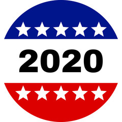 USA election label background, for pin, badge, election campaign button.