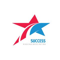 Star creative logo design. High business rating concept sign. Vector illustration.