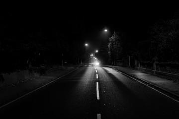 Dark road in UK Fotomurales