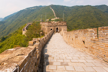 Empty Great Wall of China