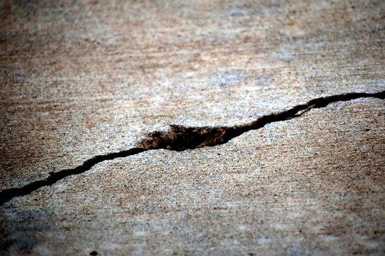Macro Grunge Cement Sidewalk Crack